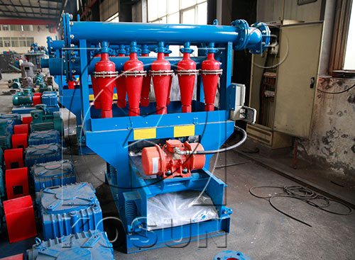 mud desilter cleaner in solids control system
