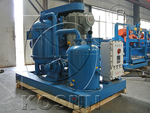 Drilling mud degasser in solids control system