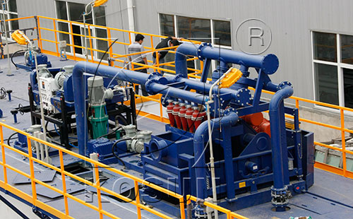 mud cleaning system in drilling fluid system