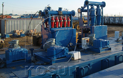 desilting equipment in drilling solids control system