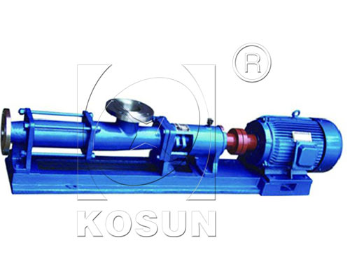 Screw pump used as feed pump for decanter centrifuge