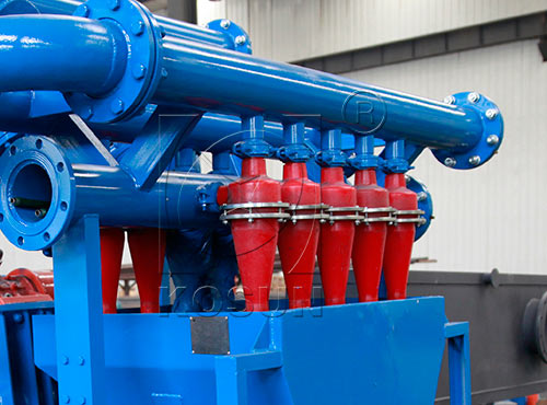 Hydrocyclone desilter in drilling mud cleaner