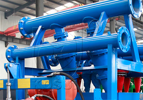 Hydrocyclone desander in drilling mud cleaner