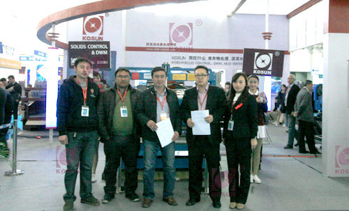 Mongolian Customer Signed the Contract with KOSUN about solids control system on 2012 CIPPE