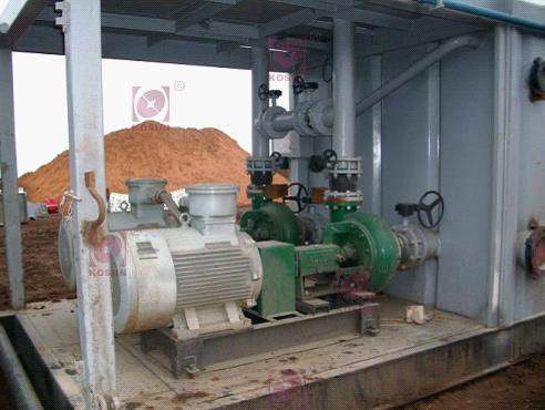 The pic shows KOSUN's matched solids control equipment-replenishment pump on the site of Orenburgskaya Oblast Oilfield.