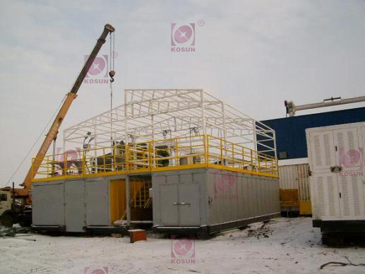 This pic shows KOSUN's arctic solids control system was being assembled on the site of Aktau Oilfield in Kazakhstan.