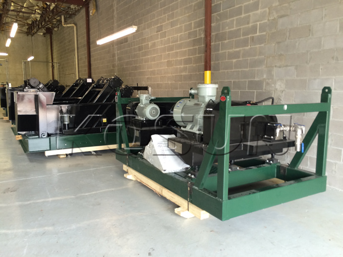 Black Rhino Shale Shakers and Decanter Centrifuge in Houston Warehouse of KOSUN U.S. Company