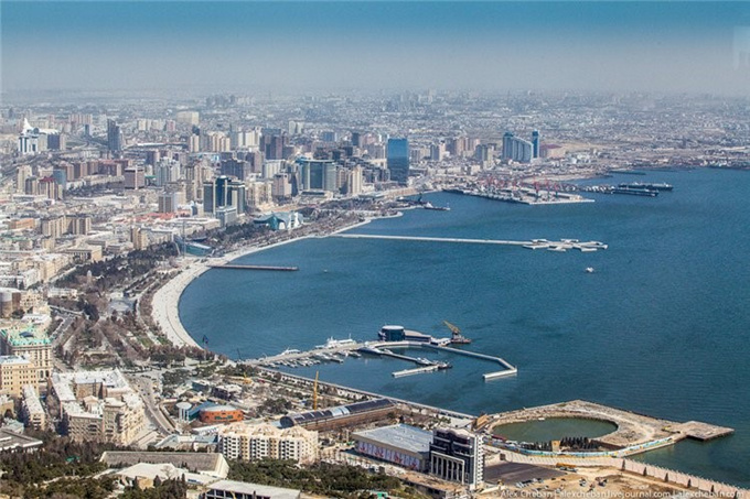 The beautiful city of Baku, Azerbaijan