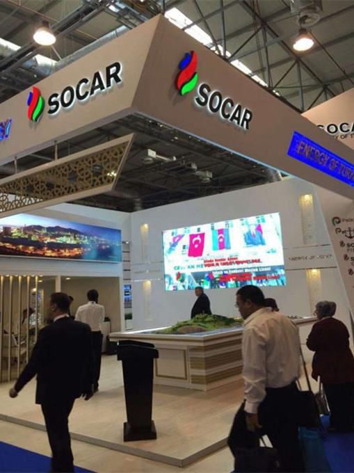 Booth of SOCAR (State Oil Company of Azerbaijan)
