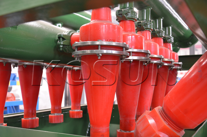 Hydrocyclones of the MD210 Mud Cleaners Customized by the Customer